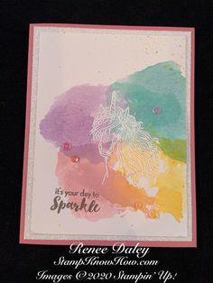 Leave a Little Sparkle Birthday Card Image Birthday Cards Images, Handmade Birthday Cards, Rubber Stamping Techniques, Craft Paper Storage, Birthday Sentiments, Cardmaking And Papercraft, Adult Birthday Party, Friendship Cards, Card Making Techniques
