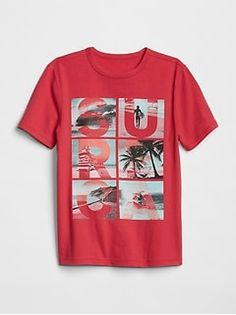 Browse a variety of boys' t-shirts and tank tops at Gap. Find short sleeve and long sleeve t-shirts in a range of prints and colors. Shirt Print Design, Shirt Designs, Japanese Outfits, Summer Tshirts, Baby Boy Fashion, Boys T Shirts, Mens Tees, Baby Boy Outfits, Shirt Style