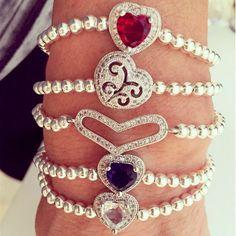 Set By Vila Veloni Multicolor Hearts Luxury Bracelets