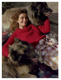 Publication: Vogue Paris August 2017 Model: Andreea Diaconu Photographer: Dan Martensen Fashion Editor: Claire Dhelens Hair: Cim Mahony Make Up: Petro Petrohilos Vogue Paris, Sandro, Editorial Photography, Fashion Photography, Dog Modeling, Img Models, Hello Autumn, Country Girls, Country Life