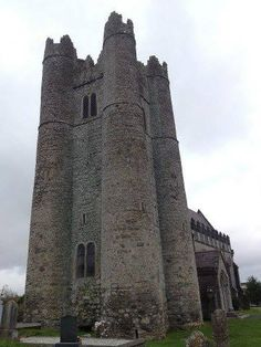 The defended medieval church tower at Lusk in County Dublin.
