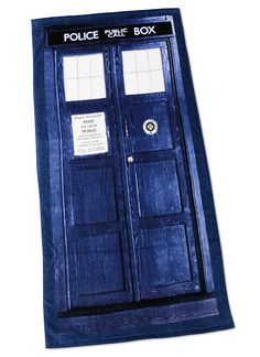 Doctor Who TARDIS Beach Towel. For my birthday please!!!