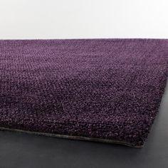handwoven mandara purple shag rug x