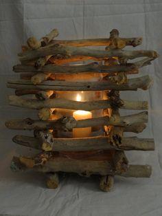 Primitive Driftwood  Lantern by SteliosArt on Etsy, €66.00