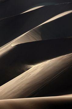 Blowing Sand at the Huacachina Dunes, Huacachina, Peru