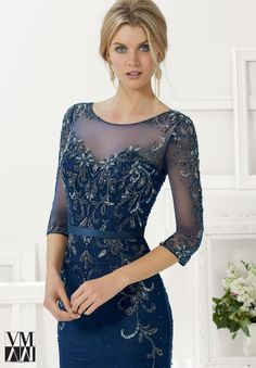 71134 Evening Gowns / Dresses Beaded Net over Lace