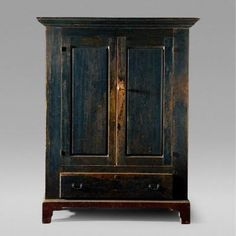 Deep Teal Armoire 18th Century Hand Painted Furniture, Art Furniture, Unique Furniture, Black Furniture, Repurposed Furniture, Vintage Furniture, Above Fireplace Ideas, Annie Sloan Furniture, Cupboard Design