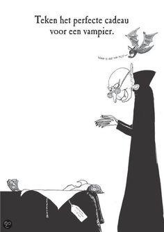 Teken het perfecte cadeau voor een vampier