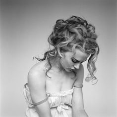 Nicole Kidman by Brigitte Lacombe -- Boudoir - Portrait - Black and White - Editorial - Photography - Pose