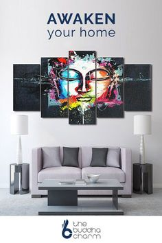 Generate positive energy throughout your home with Buddha Canvas Wall Art. Make your world harmonious and fill life with unlimited abundance at thebuddhacharm.com.