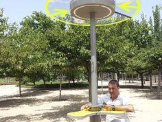 Usbe Smart Charger @wattcom borne #solaire avec #charger #usb idéale pour les parcs et jardins #outdoors   @wattcom #architecture