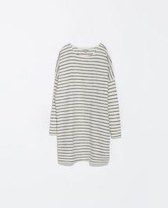 ZARA - TRF - STRIPED VELOUR DRESS