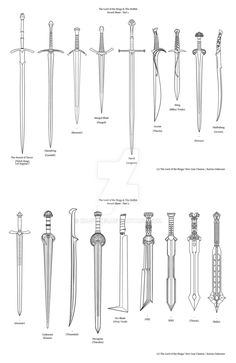 LOTR + The Hobbit sword sheet by RDJpwns
