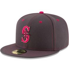Men's Seattle Mariners New Era Graphite 2016 Mother's Day 59FIFTY Fitted Hat