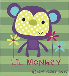 pop-i-cok: little monkey Monkey Pictures, Cute Pictures, Drawing For Kids, Art For Kids, Owl Artwork, Animal Art Projects, Baby Posters, Drawing Projects, Drawing Ideas
