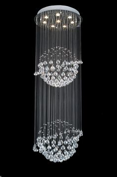 """$800, H 72"""" W 24"""", Gallery Modern / Contemporary CRYSTAL LIGHT FIXTURE"""
