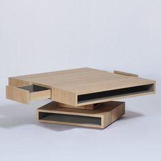 Coffee table / contemporary / oak / square CUBOCARRÉ by Hervé Langlais Drugeot Labo