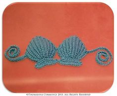 Crochet Pattern - Shell Bikini Top - Also available as part of a set at https://www.etsy.com/listing/126586451/pdf-pattern-crochet-mermaid-tail-and?ref=shop_home_feat