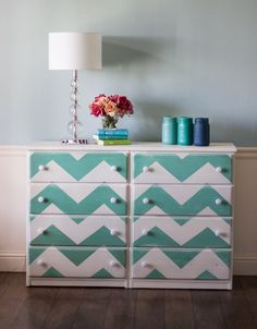 chevron painted furniture. Chevron Striped Dresser Painted Furniture E