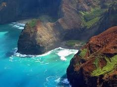 Napali Coast - Kauai, Hawaii...  only way to view here is either by boat or plane (helicopter)..  A MUST do..