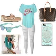 swegg by flinch552 on Polyvore featuring polyvore fashion style NIKE Frame Denim Sperry Top-Sider Louis Vuitton Polaroid
