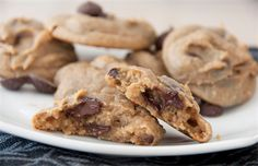 12 Scrumptious Gluten-Free Chocolate Chip Cookie Recipes: Gluten-Free Healthy Cashew Butter Chocolate Chip Cookies with Canned Chickpeas