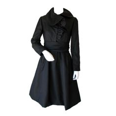 GEOFFREY BEENE Cocktail Dress, 1960s via Vintage Fashion Inc.  I like the fact that this little black dress almost looks like a coat dress.