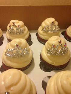 Red velvet tiara princess cupcakes