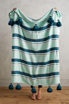 Tassel Stripe Throw Blanket
