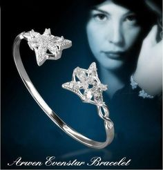 Pretty Silver Arwen Evenstar inspired cuff bracelet. Great gift for any Arwen Evenstar or Lord of The Rings fan! Material: Alloy,Pearl Size: 6.2*2.5cm Net Weight: 18.2g Color: Silver