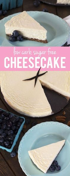The only low carb cheesecake recipe you'll ever need! It's dense, creamy, NY style cheesecake that's sugar free, low carb, gluten free and insanely delicious! We love it with fresh berries.