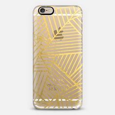 Abstraction Outline Gold Zoom Transparent - Classic Snap Case