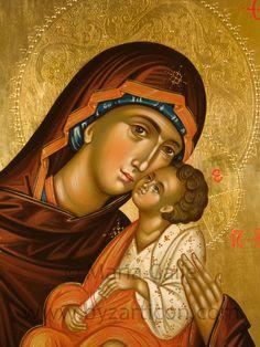 Madonna della tenerezza, particolare, 40X50 cm, Collezione privata