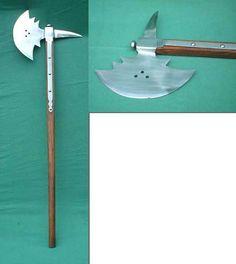 gothic war axe 16th century, replica