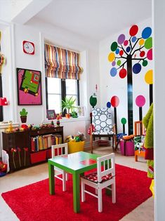 brightly colored playroom!