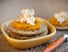 roasted squash and goats cheese