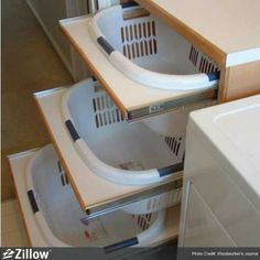Laundry organizing ideas.