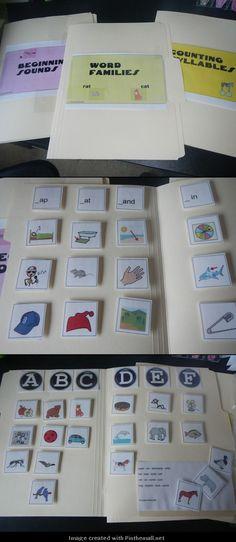http://www.teacherspayteachers.com/Product/Phonological-Awareness-File-Folder-Fun-Special-Ed-ELA-Autism-678327: File folders for phonological awareness skills $ - created via http://pinthemall.net