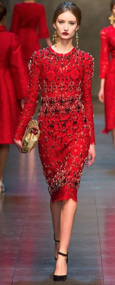 Fall 2013 Dolce & Gabbana ... love the dress, just needs to be on a bit more curvy figure.