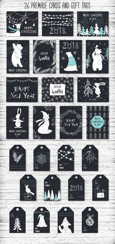 Winter adventures 30 % off by Miraclesshop on @creativemarket
