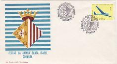 Sobrescrito comemorativo com carimbo comemorativo a preto datado de 14/07/1960 alusivo às Festas da Rainha Santa Isabel em Coimbra