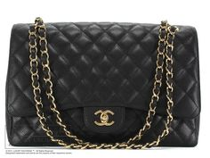 """https://www.luxuryexchange.com/shop/chanel/authentic-chanel-caviar-leather-single-flap-jumbo-bag/prod_4417.html   Luxury Exchange™ is proud to present a black caviar leather jumbo flap bag by Chanel. -Quilted caviar leather in black      Golden hardware -Two shoulder straps with 14"""" drop -One back pocket -Single flap opening -Leather lining with two pockets      Made in Italy   -Serial number"""