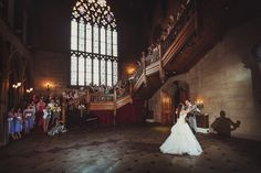 The wedding first dance in the Great Hall.  Wedding photography at Matfen Hall by 2tone Photography. www.2tonephotography.co.uk