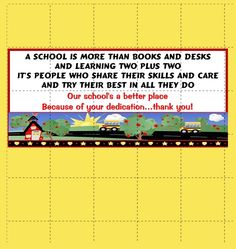 School volunteer Hershey bar wrapper - print right from your own computer