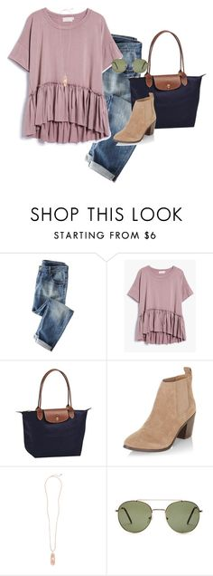 """Dangerous Woman"" by m-scanlon ❤ liked on Polyvore featuring Wrap, Longchamp, New Look, Kendra Scott and Forever 21"