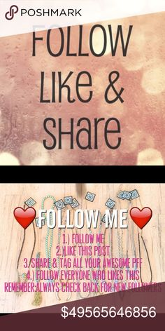 ✨🌸🐚🥀  FOLLOW GAME  🥀🐚🌸✨ 🌀🏝THIS IS MY FIRST EVER FOLLOW GAME🌀🌴 🐚🌸MY GOAL IS TO REACH 15K FOLLOWERS🌸🐚 🦄🌈WHEN I HIT MY GOAL I WILL DO A HUGE GIVEAWAY AND FUN GAME🌈🦄 👣✨PLEASE LIKE SHARE FOLLOW AND REMEMBER TO COME BACK TO STAY TUNED IN!✨👣 🎀💘PLEASE TAG YOUR PFFS DOWN BELOW💘🎀 follow game PINK Victoria's Secret Accessories