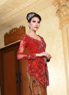 kebaya wedding red