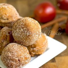 Easy Apple Cider Donuts: made in a jiffy and a traditional fall treat.