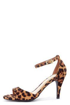647f943e52d71 Bamboo Jenna 01 Leopard Print Peep Toe Kitten Heels at LuLus.com! Leopard  Shoes