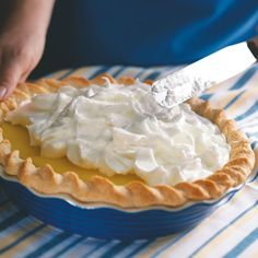 """Tasty Lemon Meringue Pie Recipe -The recipe for this yummy lemon pie comes from my grandmother. It's a lovely, special dessert that feels like """"home.""""—Merle Dyck, Elkford, British Columbia"""